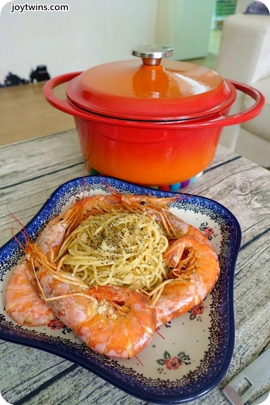 阿根廷天使紅蝦香蒜義大利麵 (37)