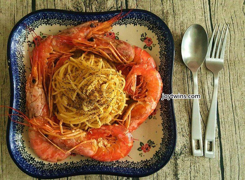 阿根廷天使紅蝦香蒜義大利麵