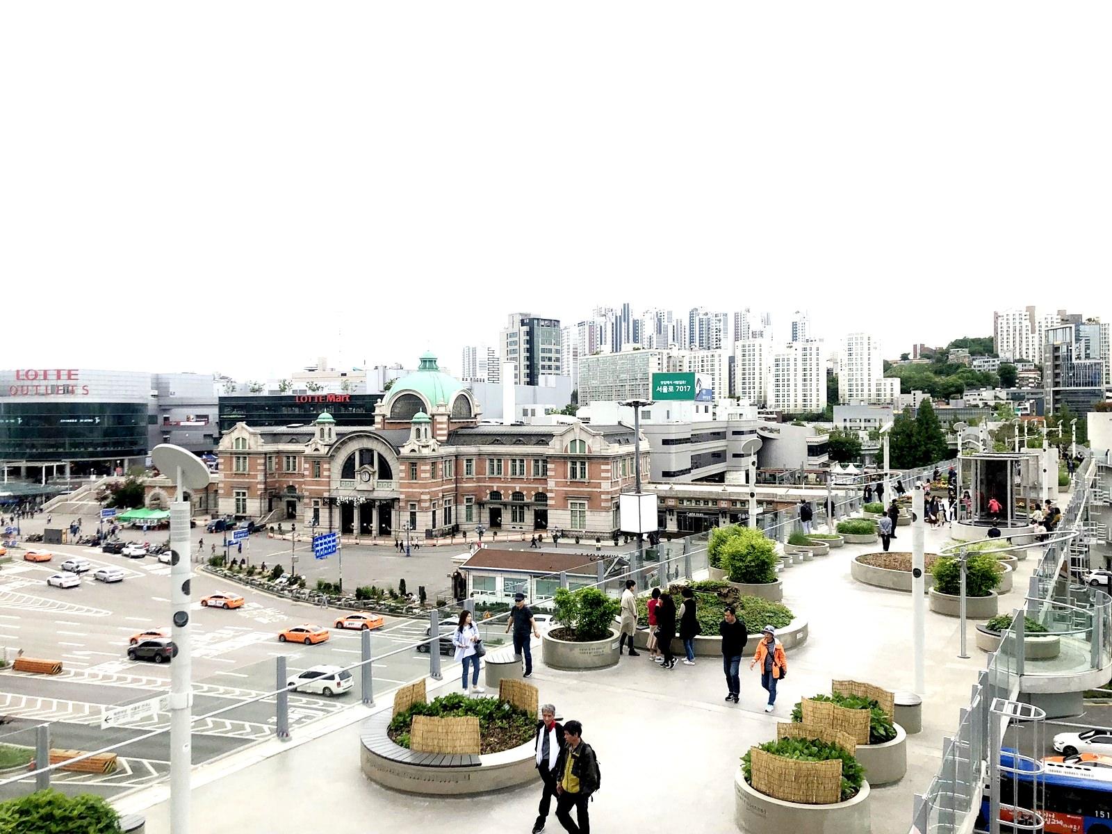 【2018韓國首爾】首爾路7017 (서울로7017) 首爾新景點 市中心空中花園 會賢站(南大門)-首爾站