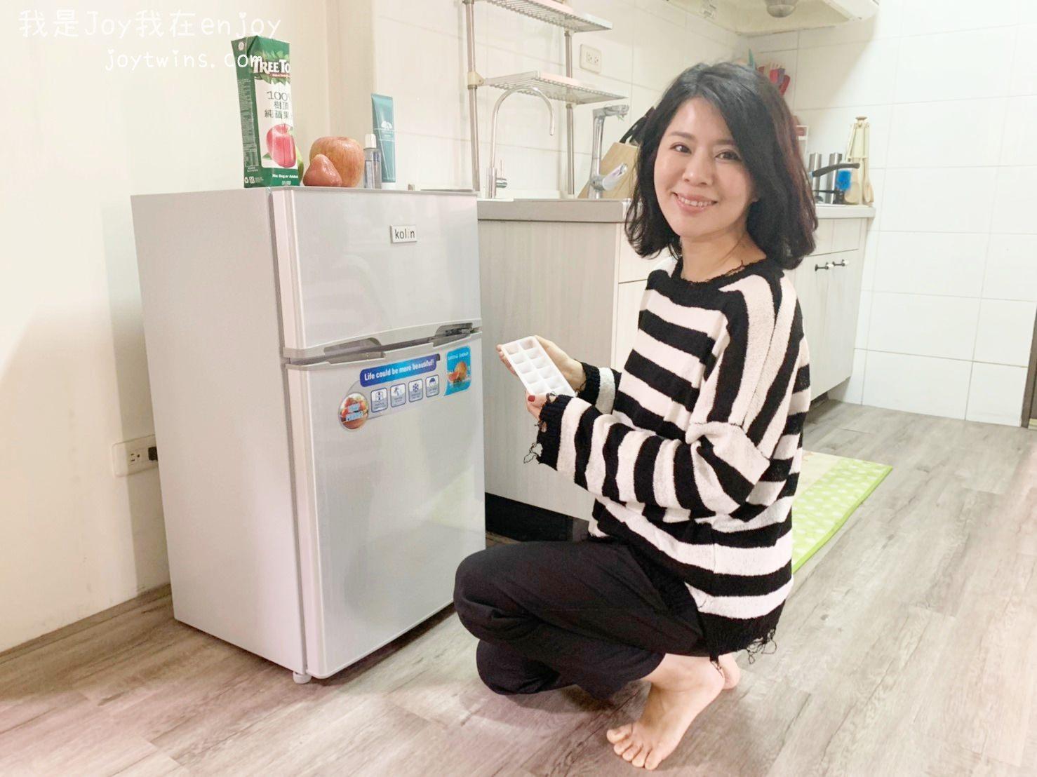 冰箱推薦 KOLIN歌林90L雙門小冰箱 可製冰/節能省電 (租屋小冰箱首選)