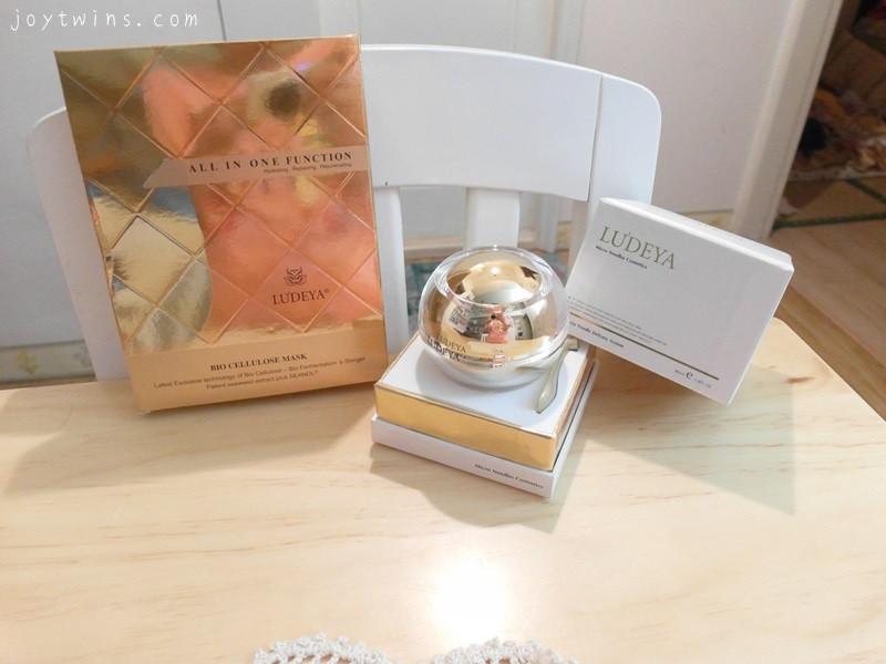 selina的法寶來自LU'DEYA皇家臻緻無瑕微針霜與黃金胎盤全效微針生物纖維面膜!