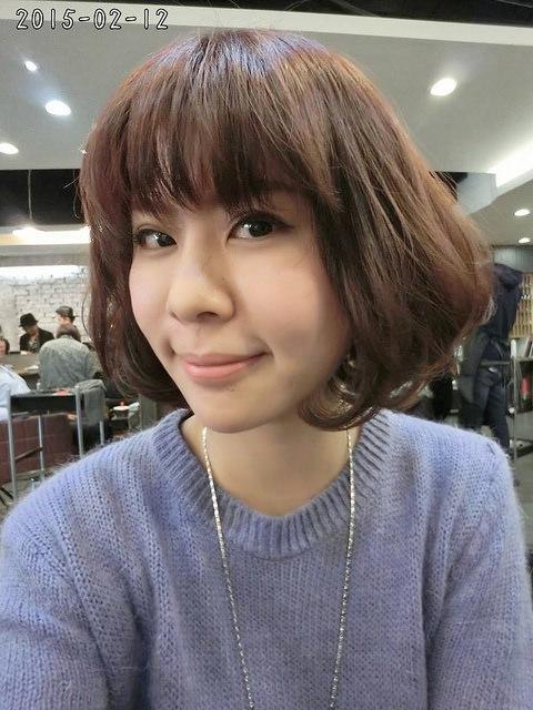 [髮型]2015年依舊走韓系短捲髮~減齡5歲必勝空氣感瀏海@尤拿髮藝