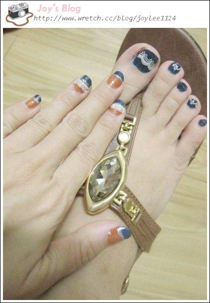 [Nail]金橘X海島藍的初秋濃情指彩-手殘都會喔!