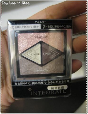[新品+彩妝文]INTERGRATE絕色魅癮-水亮黑瞳眼影盒粉嫩棕
