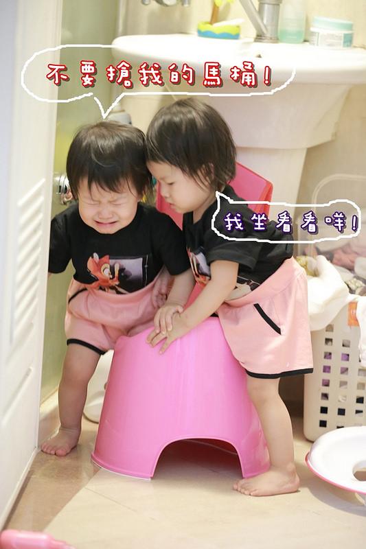 [雙寶成長日誌]1Y8M如廁訓練與布尿褲、喝水改成貝親加長版莫哭杯、正式使用牙膏刷刷牙、止咳冰糖大蒜水