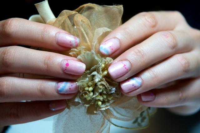 [Nail]我有紫色漸層金色雪花光療指甲呢!(更新三款光療指甲)
