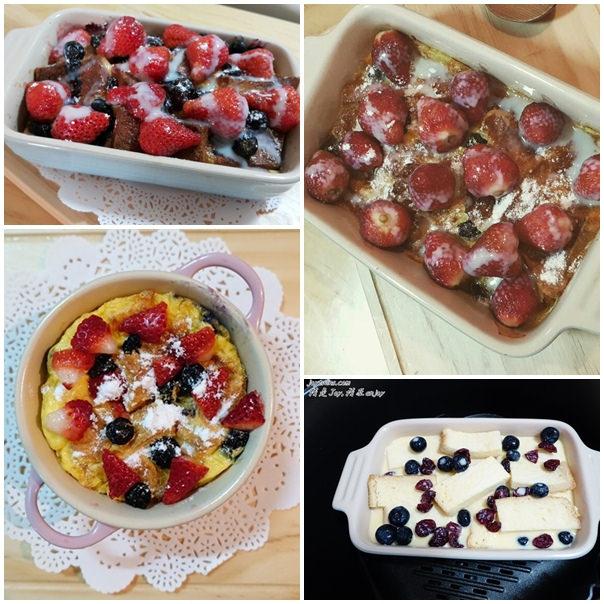 [甜點]超級討喜好吃的草莓布丁吐司~(氣炸鍋/烤箱都可以) 甜點苦手都能輕鬆完成!